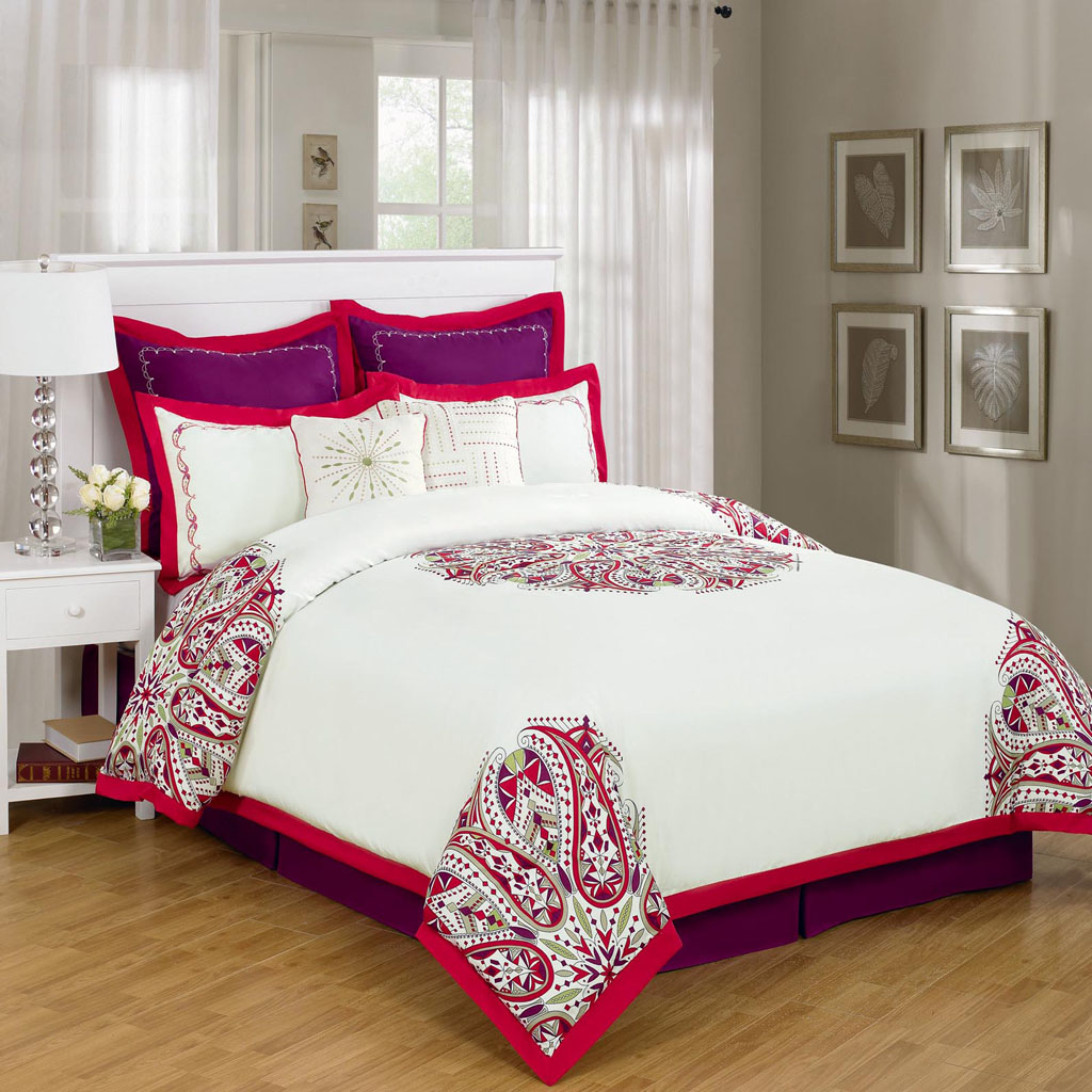 Red California King Bedding