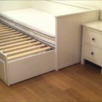 A unit of daybed with trundle addition for guests