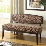 Animal print bench idea with animal print backrest
