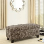 Animal print ottoman bench idea