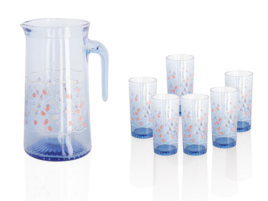 Awesome blue printed water tea of best drinking glasses