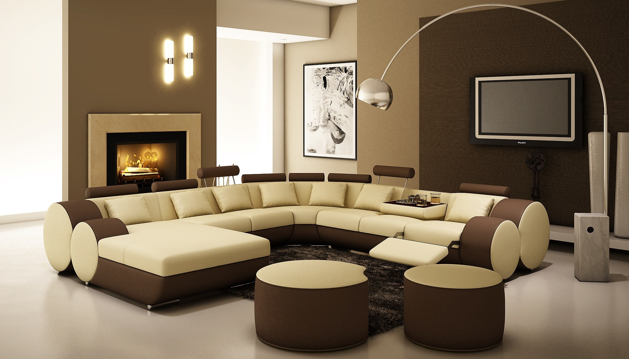 Unique sectional sofas homesfeed for Idee deco salon taupe