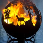 Ball fire pit with nature feature idea