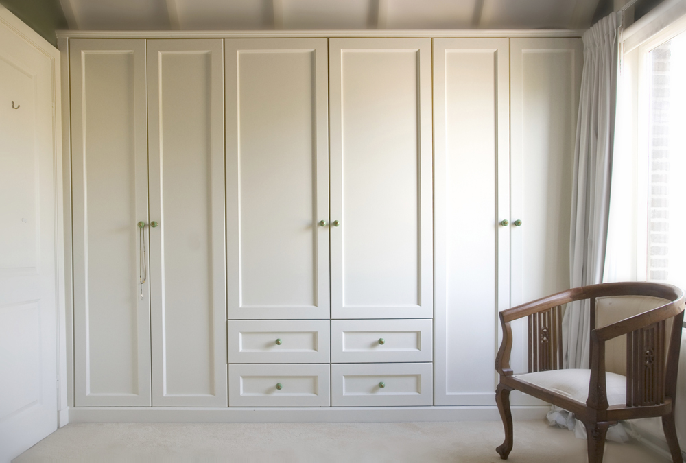 Bedroom White Closet Storage Cabinet