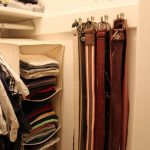 Belt Storage Ideas Inside Closet Cabinet