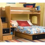 Berg loft bed idea with unfinished wood as the material