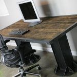 Best Wooden Rustic Office Desk With Recliner