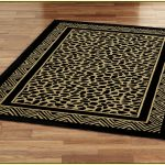 Black Yellow Design Of Cheetah Print Rugs