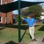 Black shade sail idea from DIY