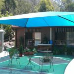 Blue DIY Shade Sail For Home Patio Wrought Iron Chairs For Patio Round Glass Top Table With Wrought Iron Legs For Patio