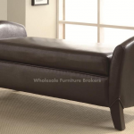 Brown Upholstered Bench With Storage