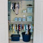 Built in closet organizer for clothes