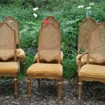 Cane Back Dining Chair Set