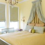 Centered Drapery Over The Bed As The Accent Piece For Replacing The Headboard