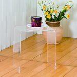 Clear acrylic nesting table idea