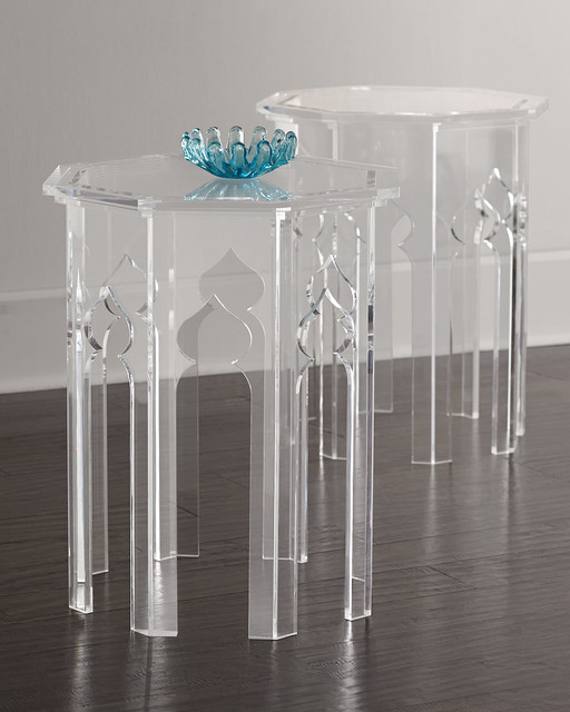 Clear Acrylic Tables With Beautiful Base