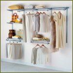 Cloth closet organizer without door
