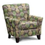 Cool Accent Chairs With Polka Design And Short Leg