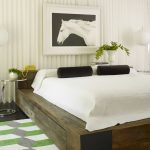 Cool shabby solid wood platform bed with storage