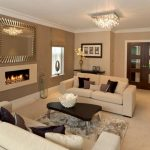 Cream And Brown Living Room Colour Schemes With Luxury Decoration