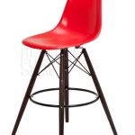 Dark Leg And Red Surface Of Funky Bar Stools