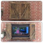 Dark Wooden Of Flat Screen TV Covers