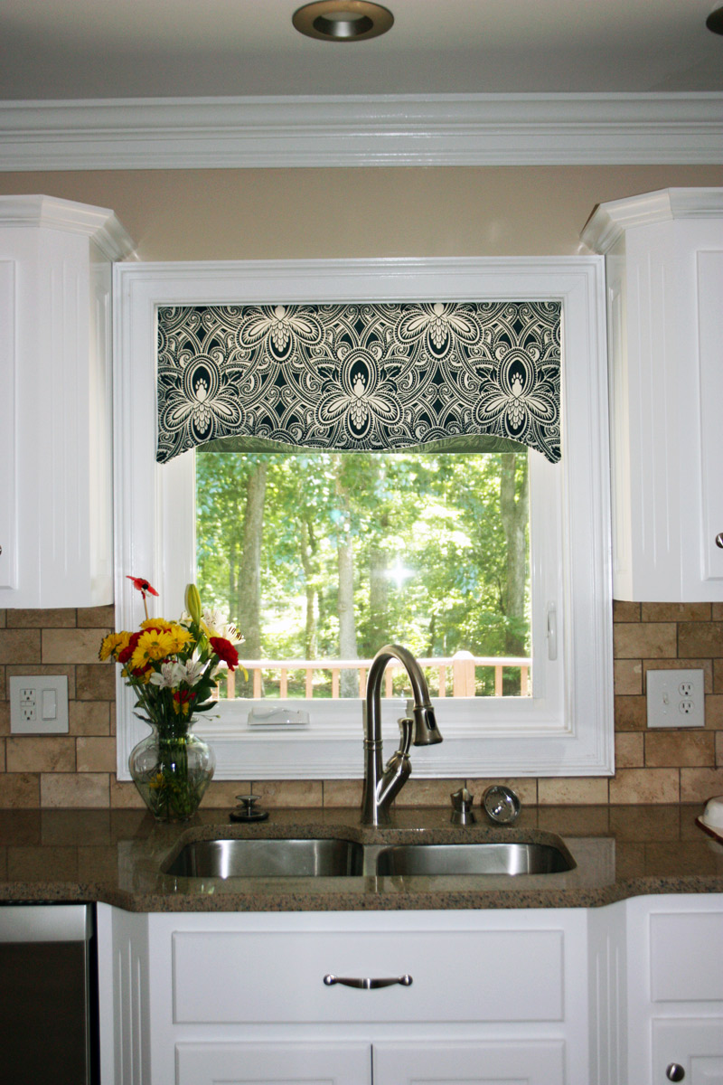 Contemporary window valances homesfeed for Kitchen cabinet valance designs