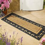 Decorative Double Door Mat Near Some Flowers