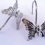 Decorative Shower Curtain Hooks With Butterfly Design