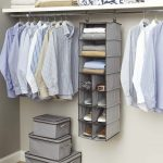 Doorless cloth organizer with shelf and portable shelving unit