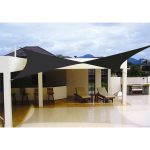 Elegant Black Shade Sail Idea From DIY For Modern Home Patio