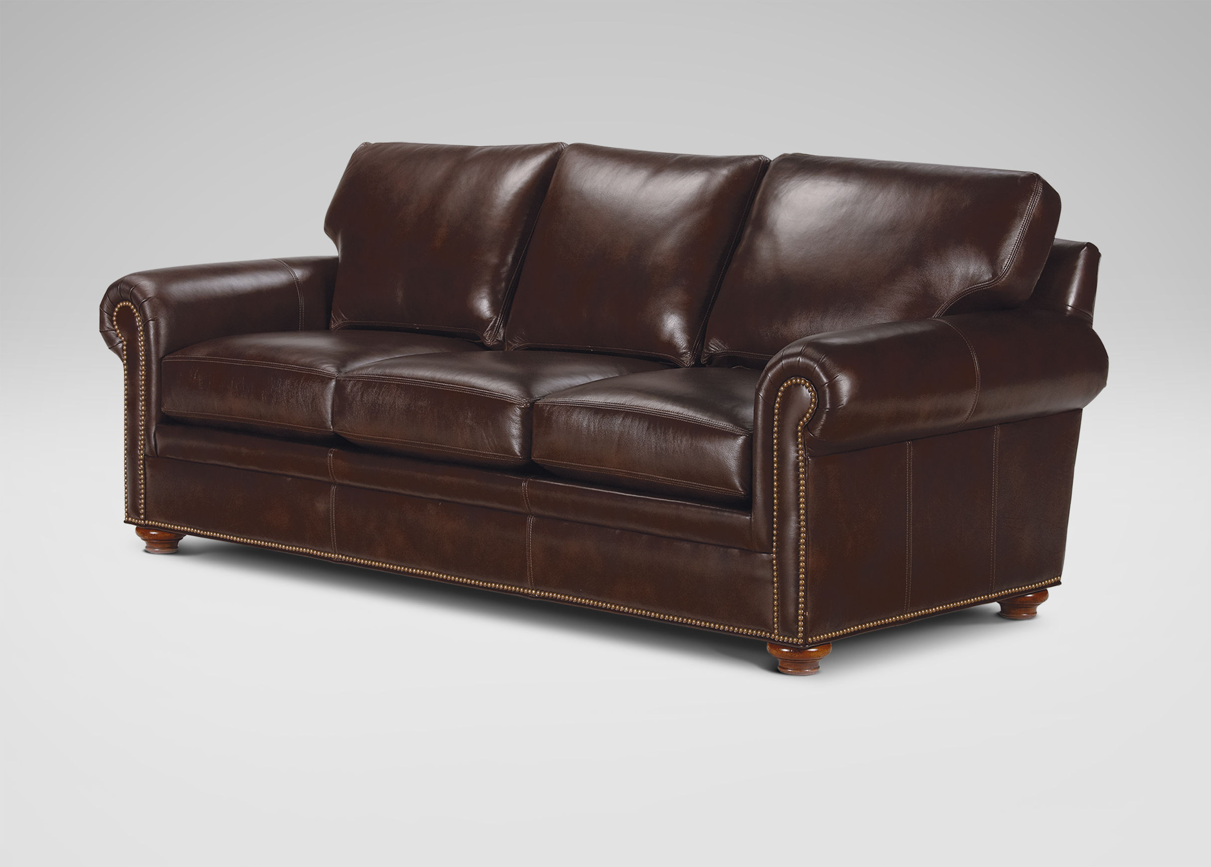 Ethan Allen Leather Sofas Ethan Allen Brown Leather Sofa