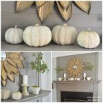 Fall Rustic Mantel Decor For Fireplace With Barkers Monochromatic