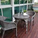 Fancy Outdoor Apartment Balcony Furniture With Hardwood Floor