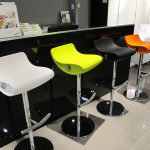 Four Colorful Funky Bar Stools
