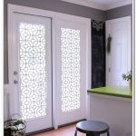French White Glass Door Coverings