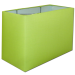 Fresh green rectangle lampshade idea