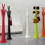 Fun and colorful standing coat hanger