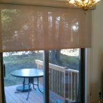 Glass Door Coverings For Door With Classic Chandelier