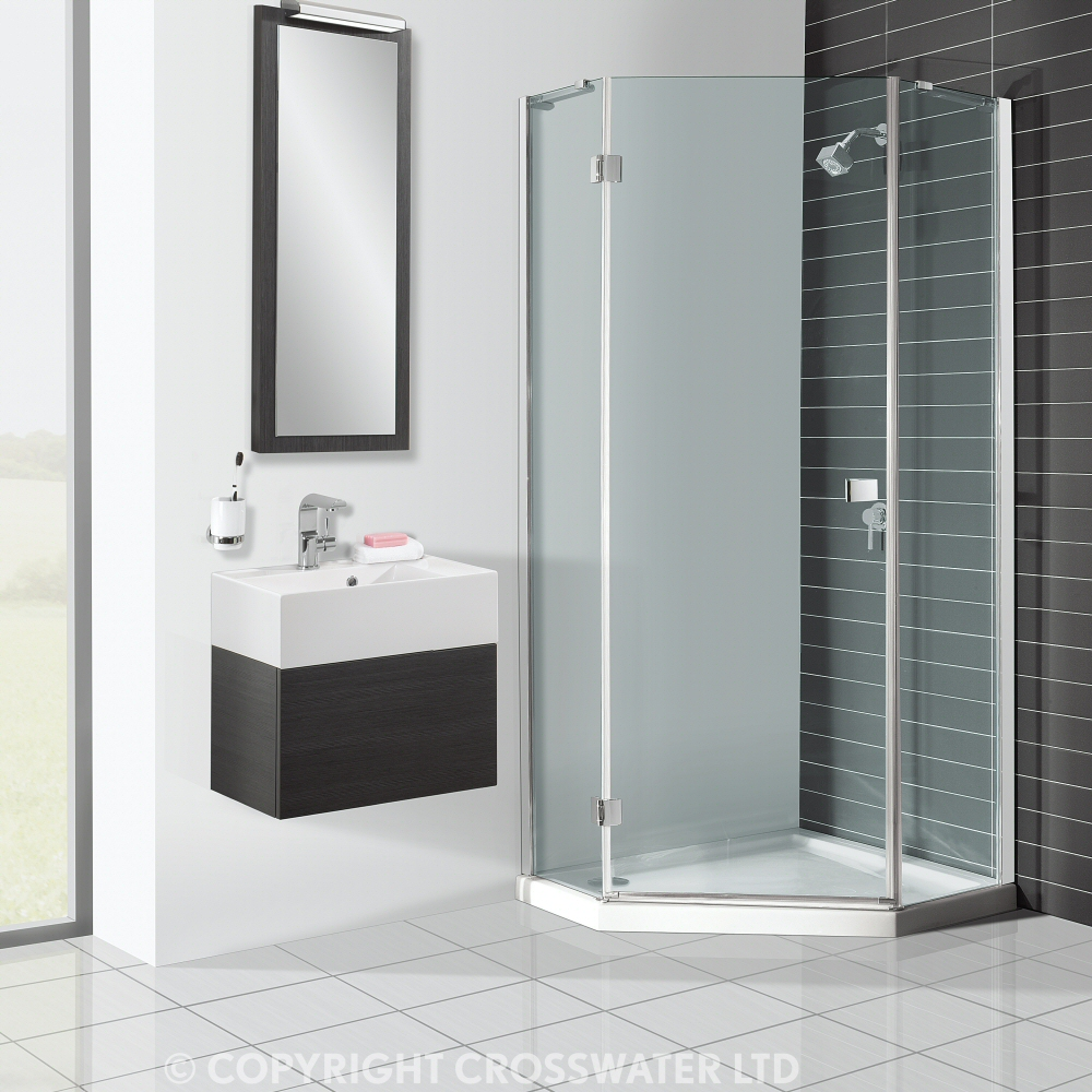 Gl Shower Door With Sink And Mirror Of Corner Units