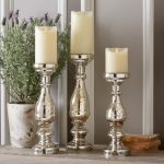 Glossy mercury candlesticks stand designs