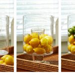 Great idea of vase filling by putting fresh melons on the glass vase