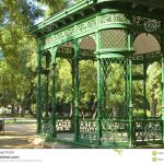Green Wrought Iron Pergola Gazebo