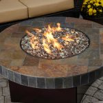 Indoor fire pit center table idea