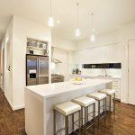 Kitchen Pendant Light Fixture For White Small Kitchen Space