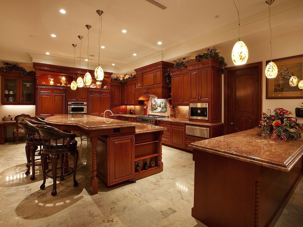 Stylish Kitchen With Two Tier Island Homesfeed