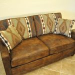 Leather Twin Size Sleeper Sofa With Pillows And Awesome Decoration