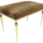 Leopard print bench idea