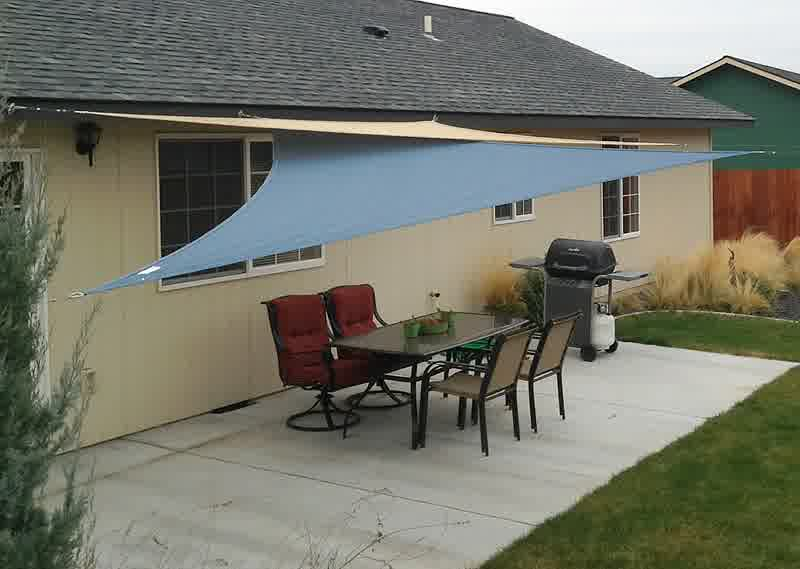 DIY Shade Sail: Simple, Practical, and Recommended ... on Shade Sail Backyard Ideas id=98560