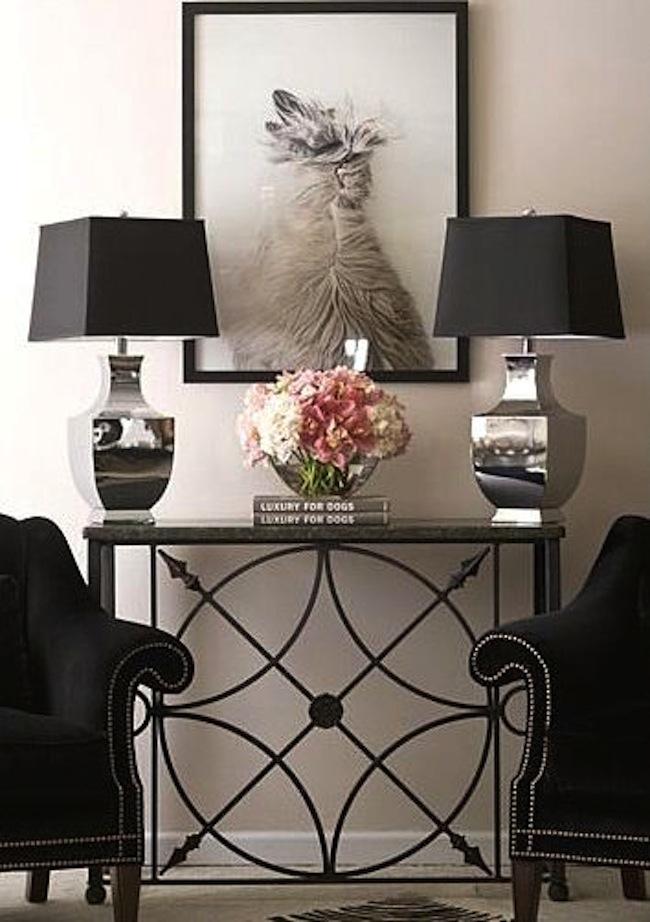 Wrought Iron Sofa Table - HomesFeed